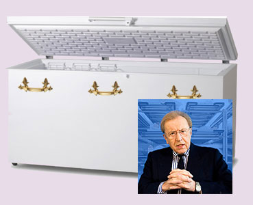 The David Frost coffin