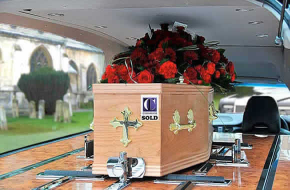 Coffin in hearse sold