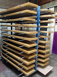 coffin lid shelving