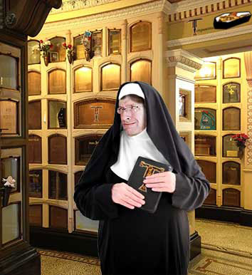 Columbarium Tour guide Sister Mary Collyer