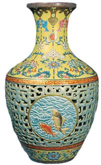 Chinese syle urn